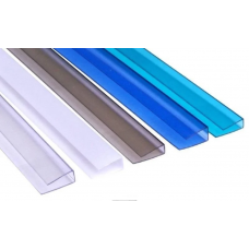 Профиль торцевой 4мм,6мм  П-образный для поликарбоната цветной (арт. 2047-1)