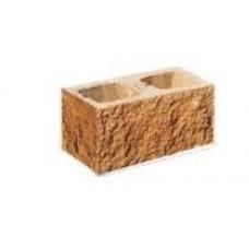 Камень декоративный заборный угловой (ломанный) 390*190*190 (арт. 3005)