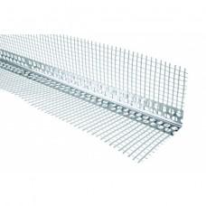 Уголок штукатурный алюминиевый с сеткой 3м. (арт.1001)